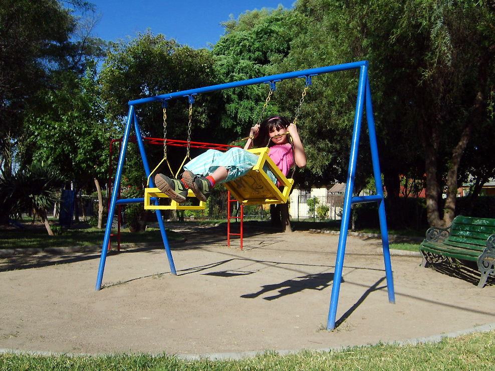 Metal; Swing Set for kids