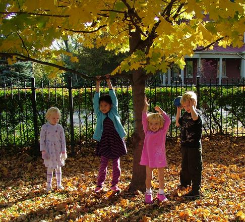 Swing set for kids neighborhood