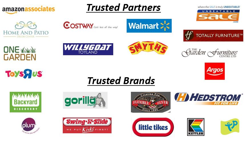 Trusted partners and brands..