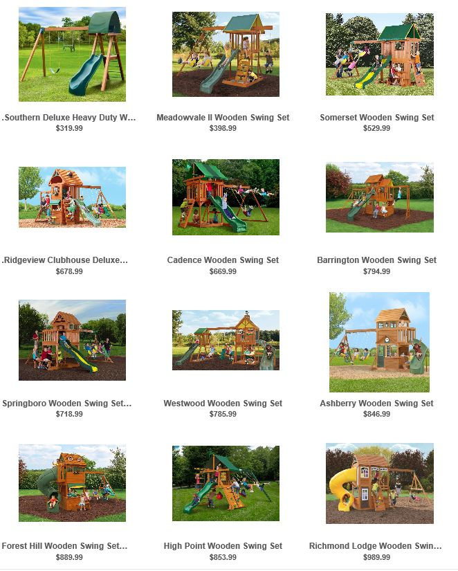 Swing Sets From Willygoat U S A Swing Set Specialist