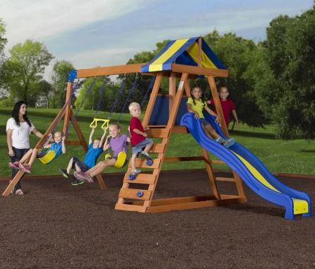 Backyard Discovery Dayton Cedar Wooden Swing Set