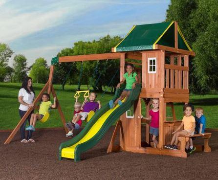 Backyard Discovery Oakmont Cedar Wooden Swing Set