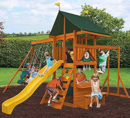 Cedar Summit Laurentian Cedar Wooden Swing Set