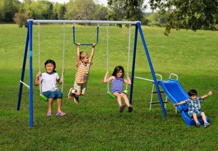 Flexible Flyer Fun-Time-Fun Metal Swing Set