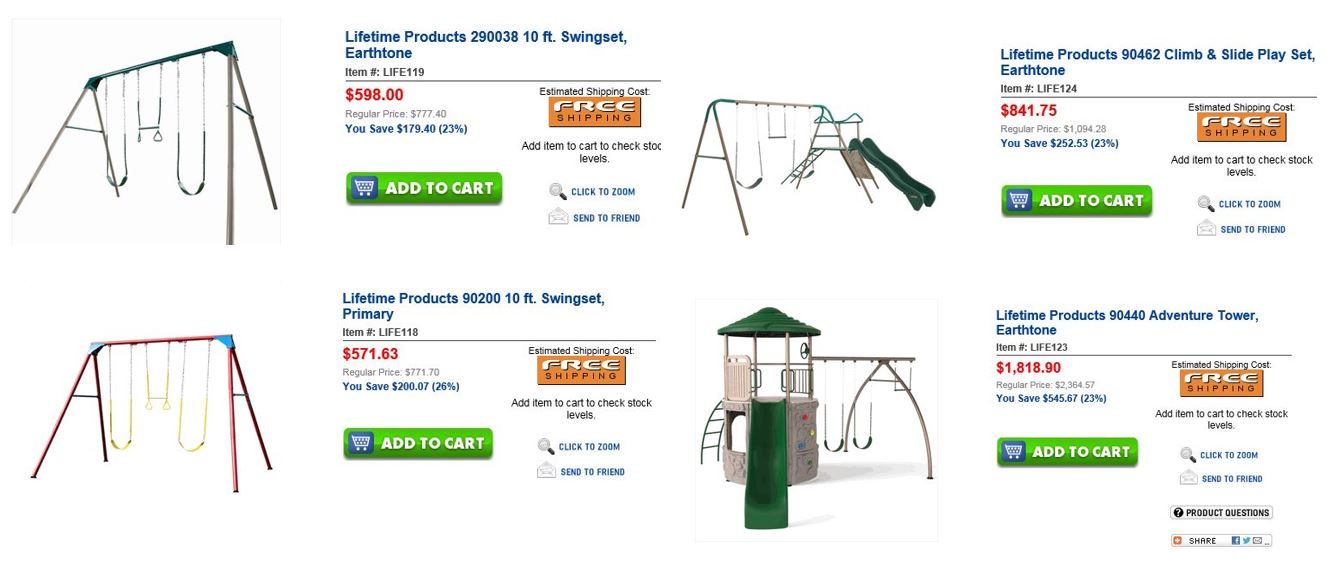 Metal Swing Sets, Unbeatablesale