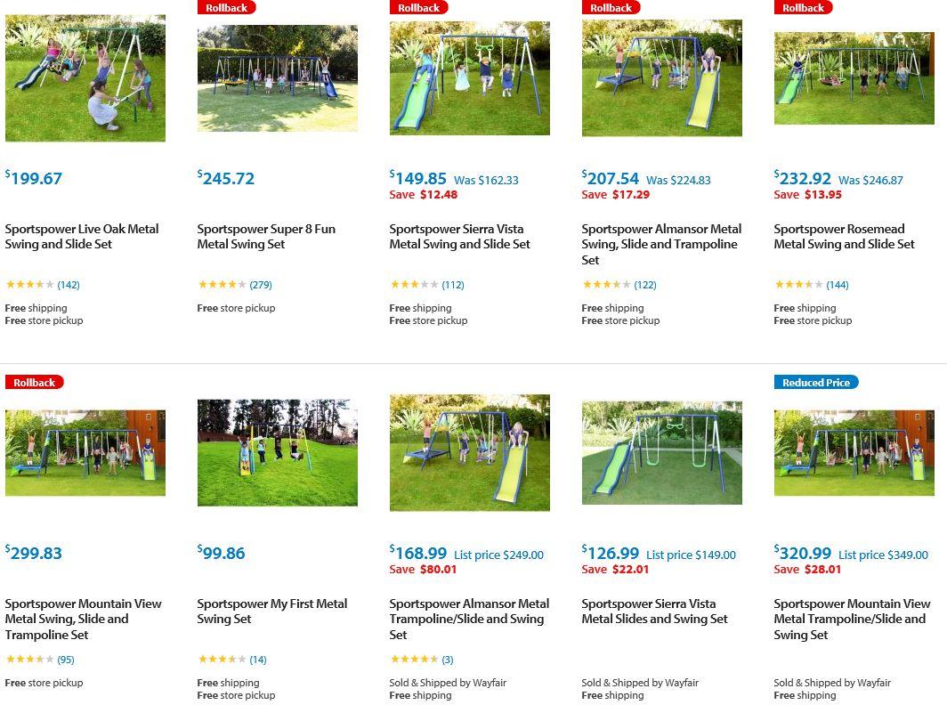 Sportspower Metal Swing sets, Walmart
