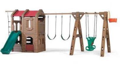 Step2 88.5'' x 201'' Adventure Lodge Play Center Swing Set
