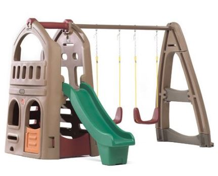Step2 Playhouse Swing Set with Climber & Slide