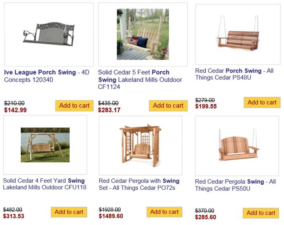 Totally Furniture Garden Swings