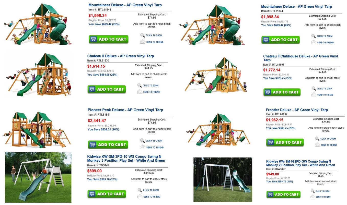 Wooden Swing Sets, Unbeatablesale