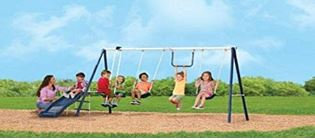 Andover Swing Set with Wave Slide