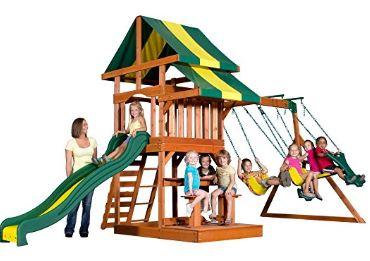 Backyard Discovery Independence All Cedar Wood Playset Swing Set