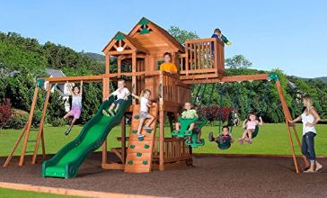 Backyard Discovery Skyfort II Swing Set