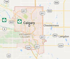 Map of Calgary