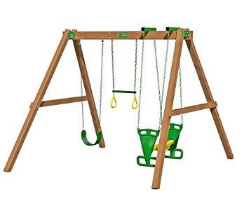 Classic Deluxe Swing Beam Swing Set For Backyard