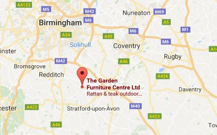 Garden Furniture Centre UK location map