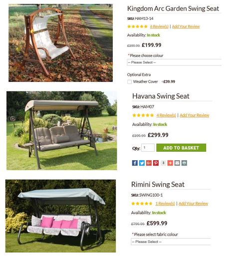 Garden Furniture centre promotions ALL