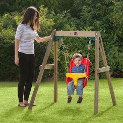 Plum Wooden Baby Swing