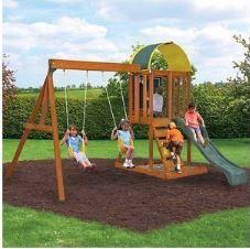 Ready to Assemble Wooden Cedar Swing Set
