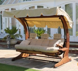 Summer Dream Swing Seat - 4 Seater with Foot Rests