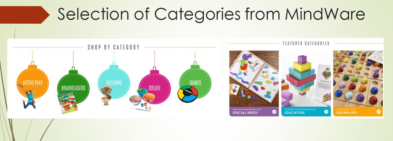 Toy Categories from MindWare