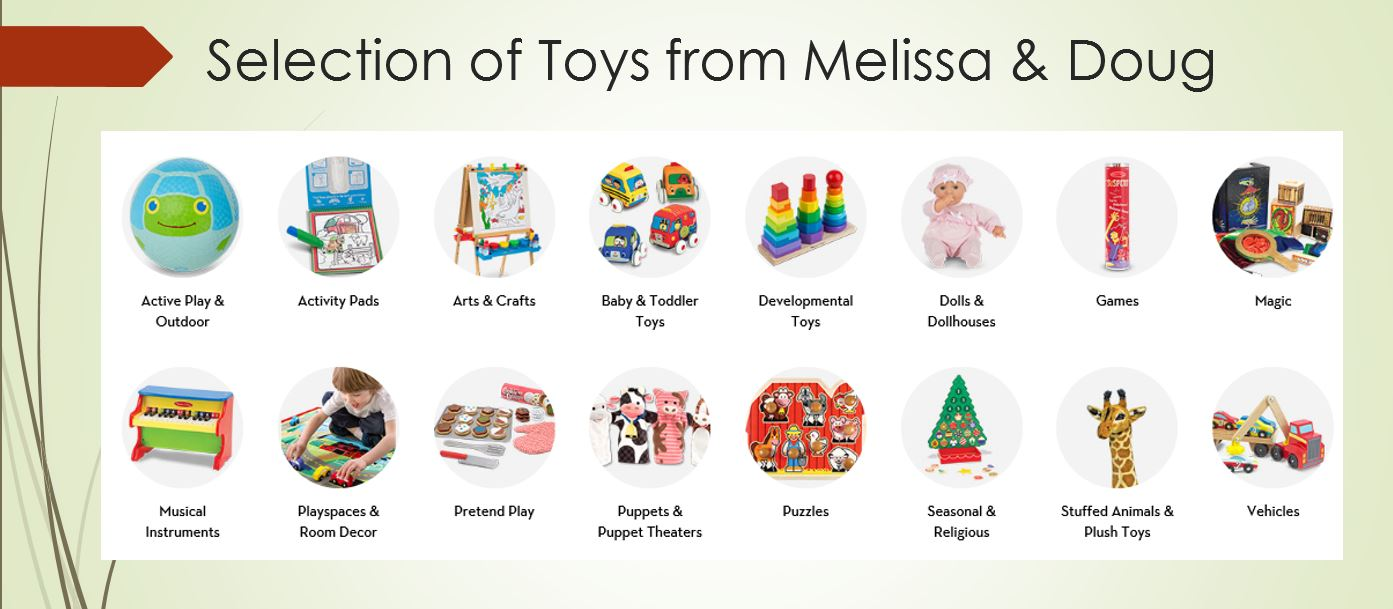 Toy Selection from Melissa & Doug