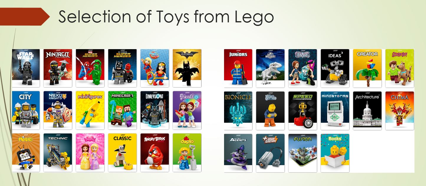 Toy Selection from Lego