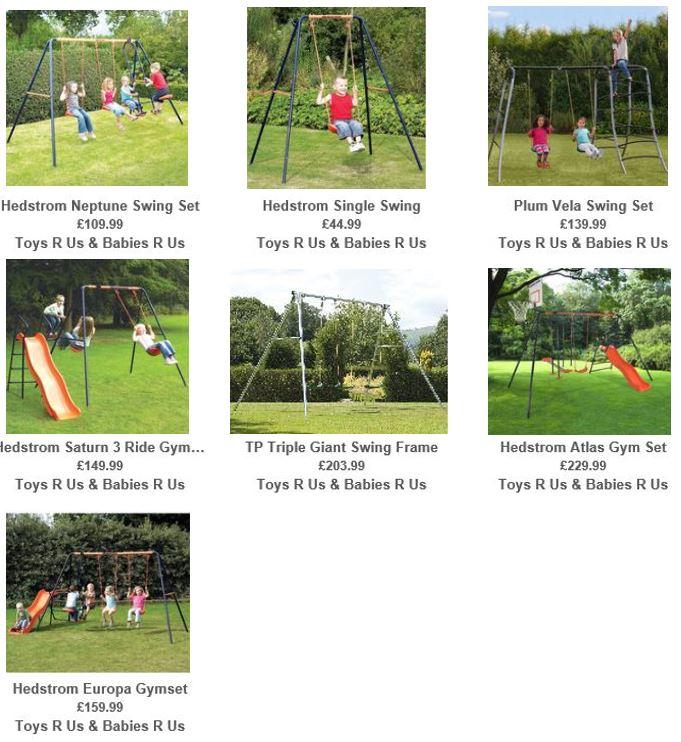 Toys R Us UK Metal Swing sets