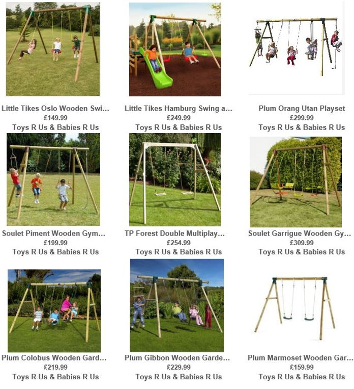 Toys R Us UK Wooden Swing sets 1
