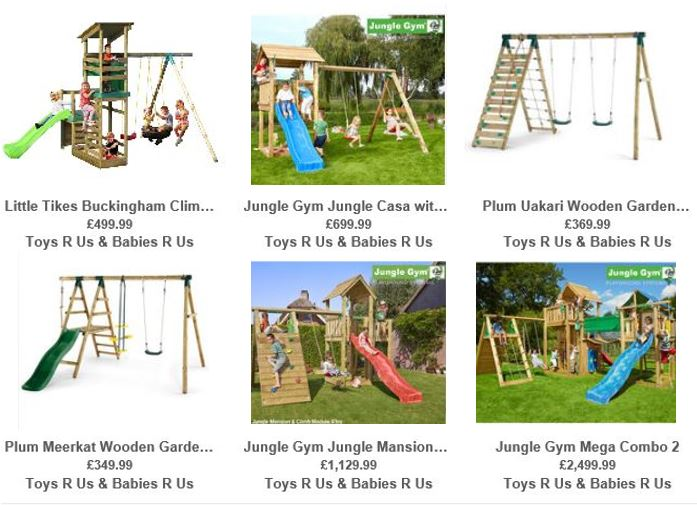 Toys R Us UK Wooden Swing sets 2