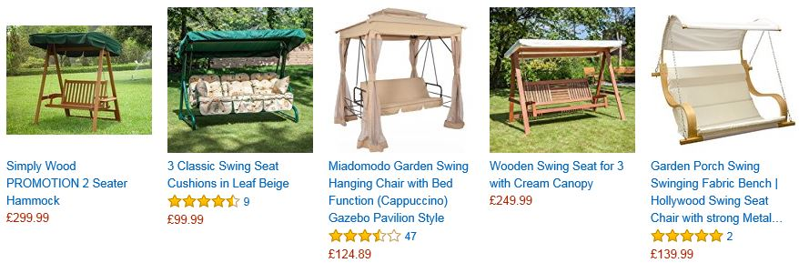 Garden Swings from Amazon related products 2