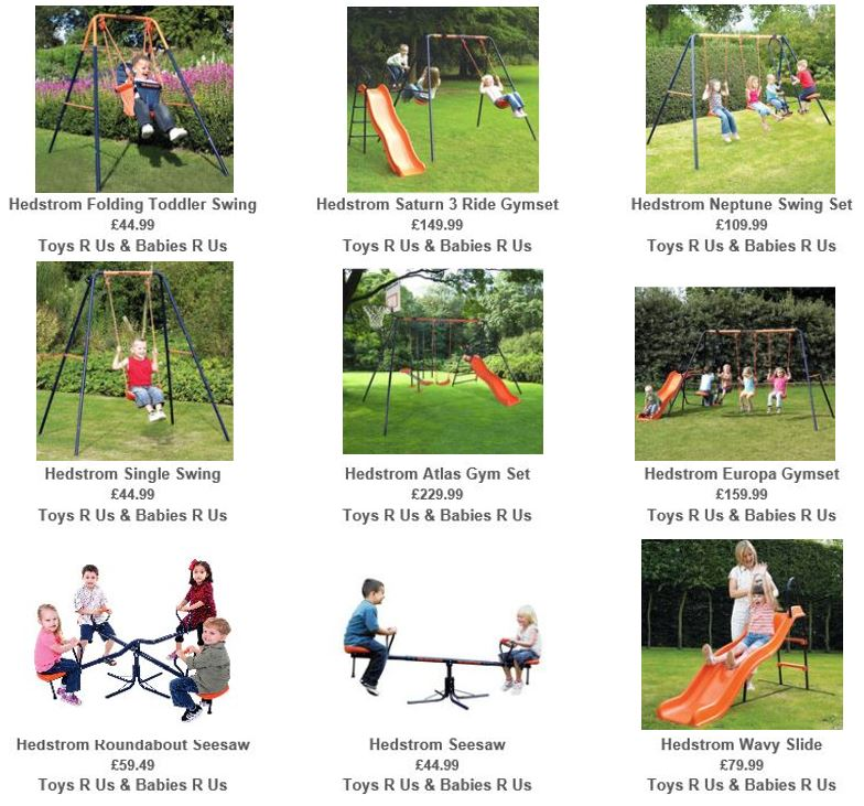 Metal Swing Sets UK, from Toys R Us UK