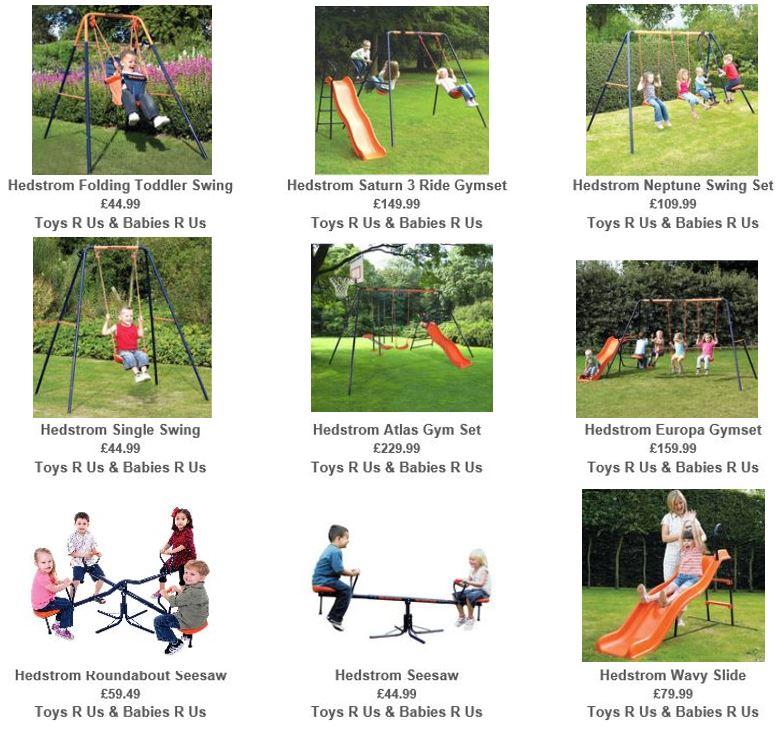 Hedstrom Metal Swing Sets. Toys R Us UK