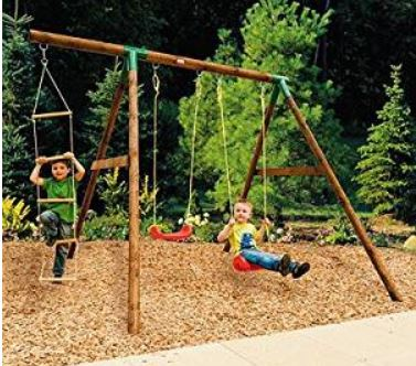 Little Tikes Riga Wood Swing Set