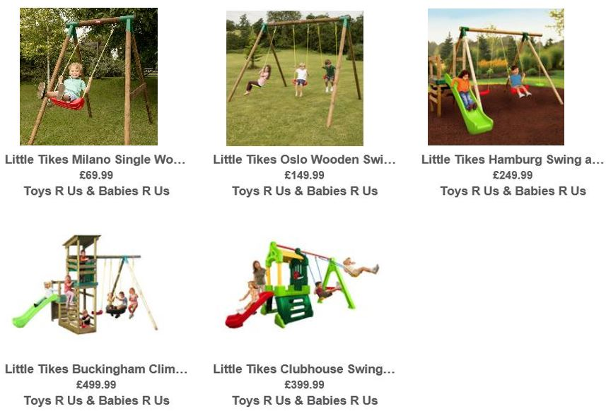 Little Tikes Swing Sets, Toys R Us UK