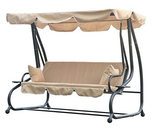 Outsunny Swinging 3 Seater Garden Hammock
