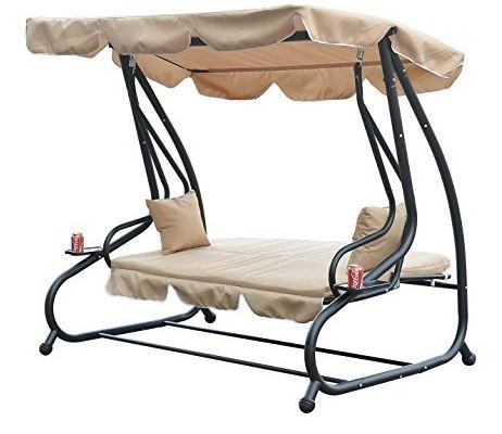 Outsunny Swinging 3 Seater Garden Hammock Swing