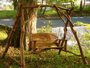 Oak Swing 2 Seater