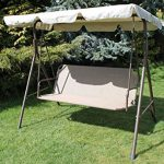 Olive Grove Textoline & Steel 2 to 3 Seater Garden Swing Seat