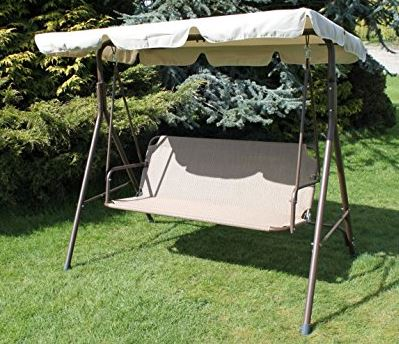 Medium image of olive grove textoline  u0026 steel 2 to 3 seater garden swing seat