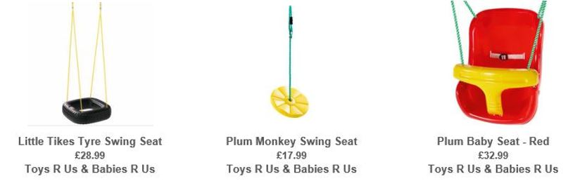 Outdoor Swing Set Accessories, Toys R Us UK