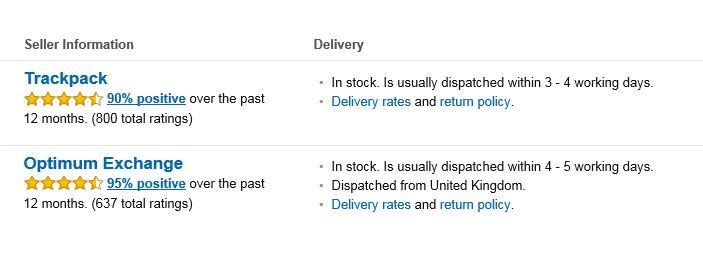 Amazon seller information
