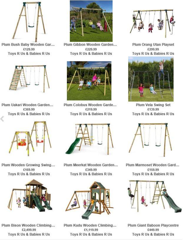 Plum Swing Sets, Toys R Us UK