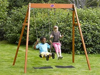 Plum Wooden Double Swing Set Amazon