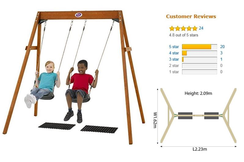 Plum Wooden Double Swing Set featured image