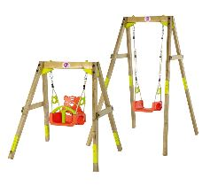 Plum Wooden Growing Swing Set
