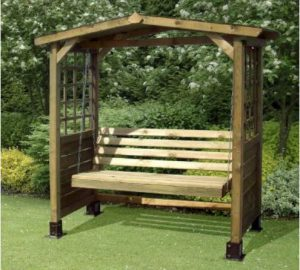 Store More Poseidon Swingseat Arbour One garden