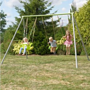 TP Triple Metal Swing Frame with Early Fun Baby Seat