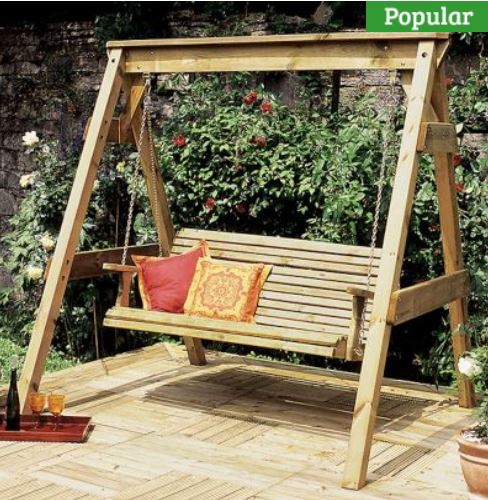 Zest Hollywood Swing Seat 3 One garden
