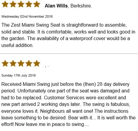 Zest Miami Swing Seat reviews One Garden